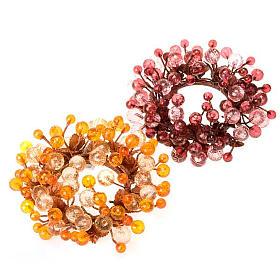 Anillo decoración bayas glitter s1