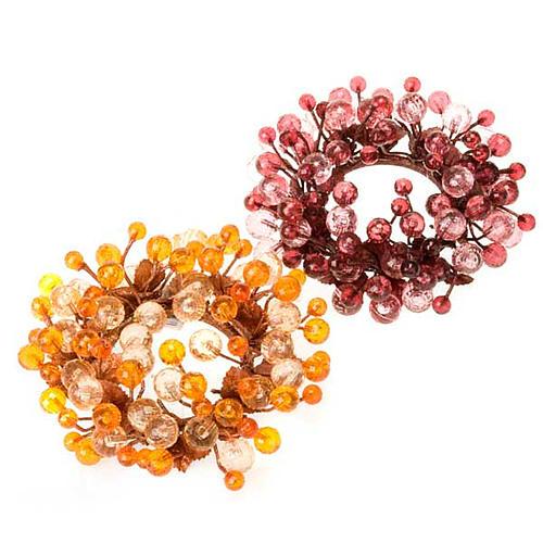 Anillo decoración bayas glitter 1