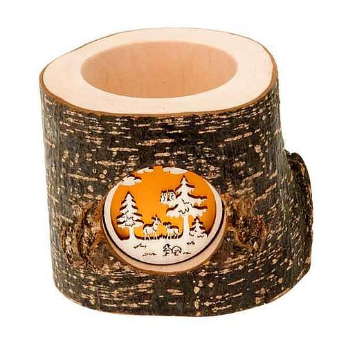 Tronc de Noel avec forêt 1