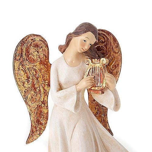 Statuine Tre Angeli con strumenti bianco e dorato 5