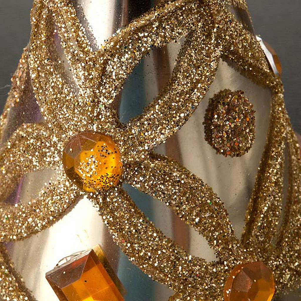 Angelo vetro con glitter e strass addobbo di Natale 4