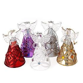 Angelo vetro con glitter e strass addobbo di Natale s1