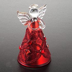 Angelo vetro con glitter e strass addobbo di Natale s7