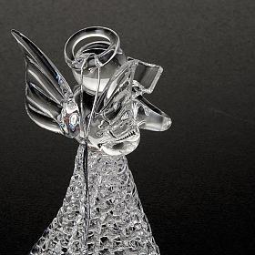 Angelo vetro trasparente addobbo Natale s2