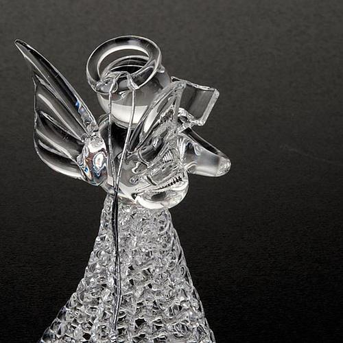 Angelo vetro trasparente addobbo Natale 2