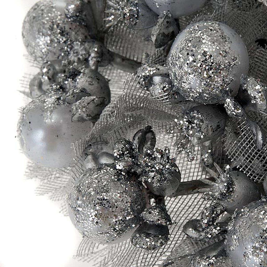 Girocandela glitter argentato decoro Natale 3