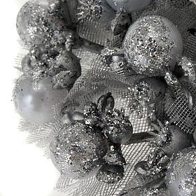 Girocandela glitter argentato decoro Natale s3