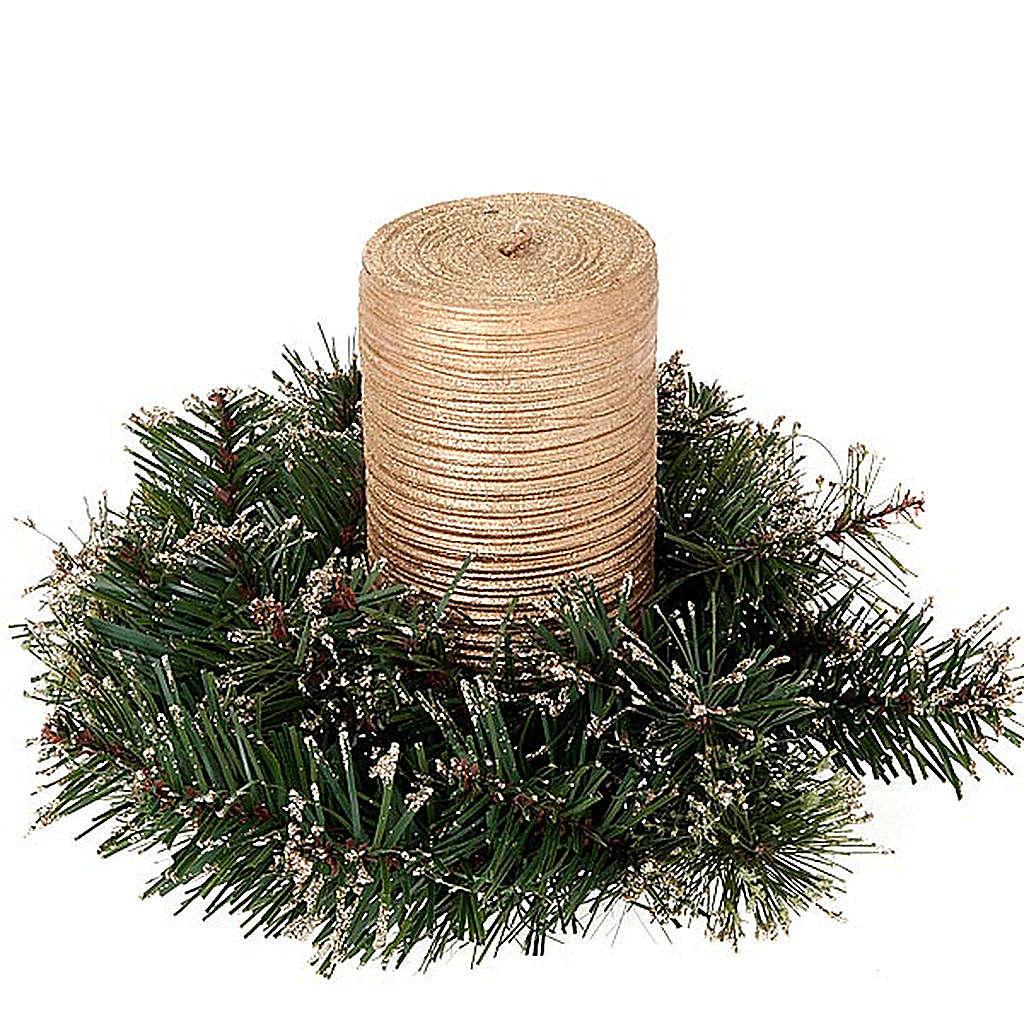 Corona di pino sintetico addobbo Natale 3
