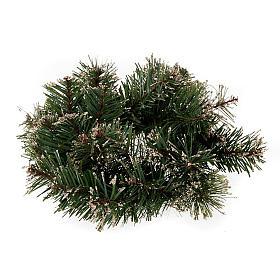 Corona di pino sintetico addobbo Natale s1