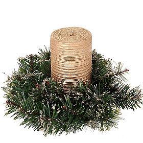 Corona di pino sintetico addobbo Natale s2