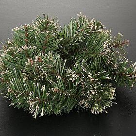 Corona di pino sintetico addobbo Natale s4