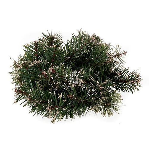 Corona di pino sintetico addobbo Natale 1