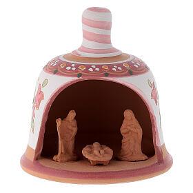 Glocke-Hütte aus Terrakotta mit Geburtsszene s6
