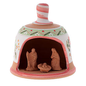 Glocke-Hütte aus Terrakotta mit Geburtsszene s7