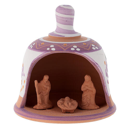 Glocke-Hütte aus Terrakotta mit Geburtsszene 9