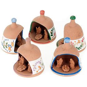 Capanna in terracotta Natività campanella s1