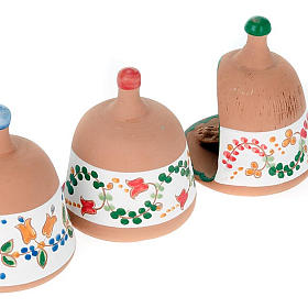 Capanna in terracotta Natività campanella s4