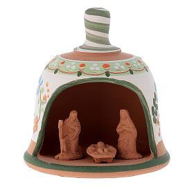 Capanna in terracotta Natività campanella s5
