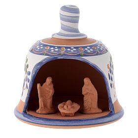 Capanna in terracotta Natività campanella s8