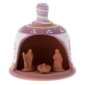 Capanna in terracotta Natività campanella s9