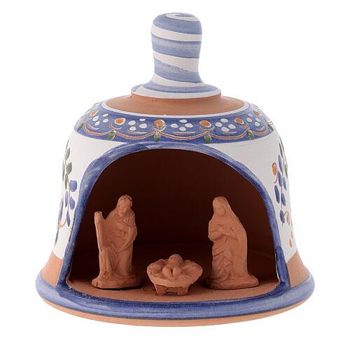 Capanna in terracotta Natività campanella 8