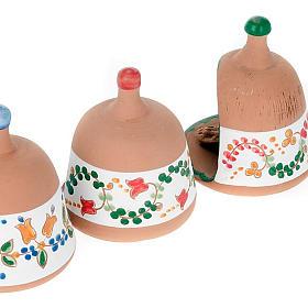 Stajenka z terakoty Święta Rodzina dzwoneczek s4