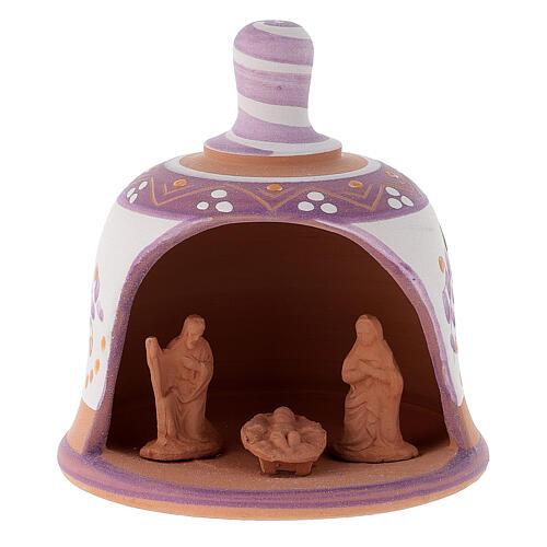 Stajenka z terakoty Święta Rodzina dzwoneczek 9