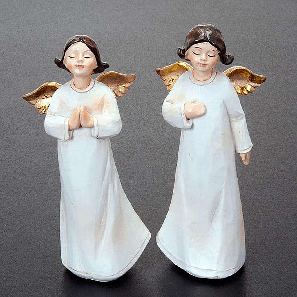 Statuette angeli 4 pezzi 13 cm addobbi natalizi 3
