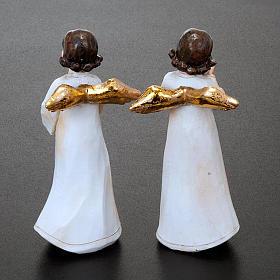 Statuette angeli 4 pezzi 13 cm addobbi natalizi s2