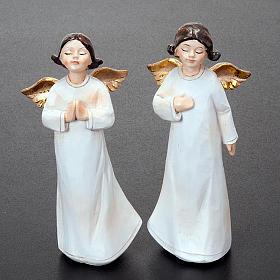 Statuette angeli 4 pezzi 13 cm addobbi natalizi s4