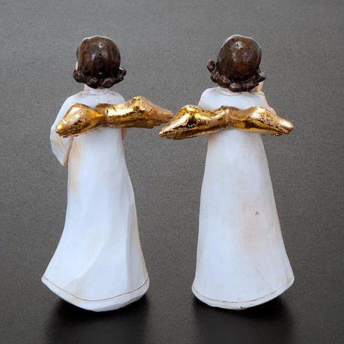 Statuette angeli 4 pezzi 13 cm addobbi natalizi 2