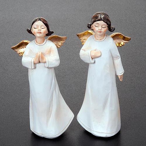 Statuette angeli 4 pezzi 13 cm addobbi natalizi 4
