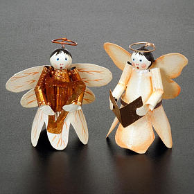 Angelo ali di farfalla con glitter decori Natale s2