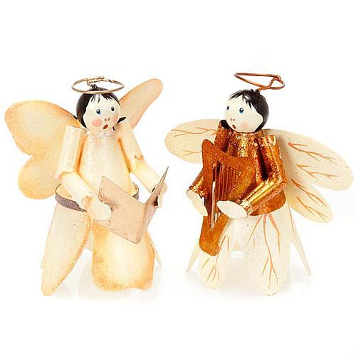 Angelo ali di farfalla con glitter decori Natale 1