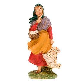 Donna con gallina 10 cm s1