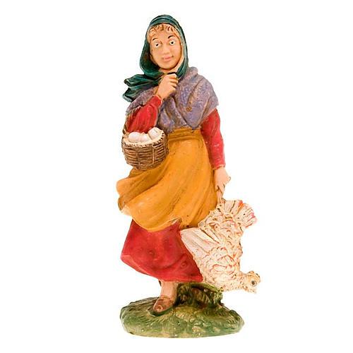Donna con gallina 10 cm 1