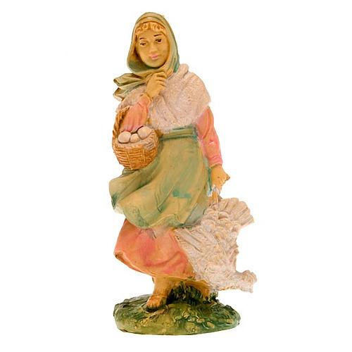 Donna con gallina 10 cm 2