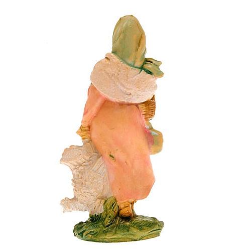 Donna con gallina 10 cm 3