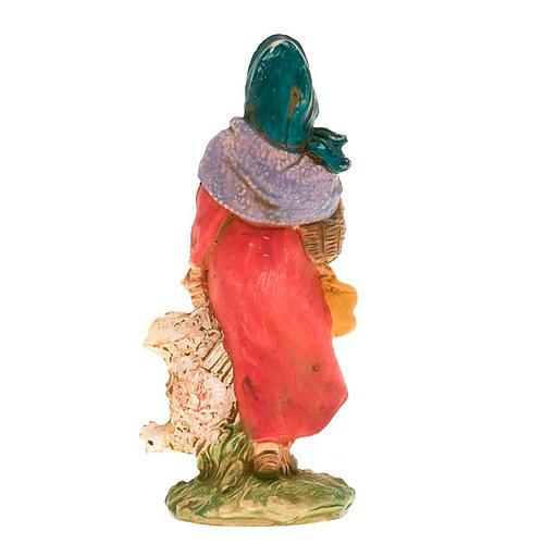 Donna con gallina 10 cm 4