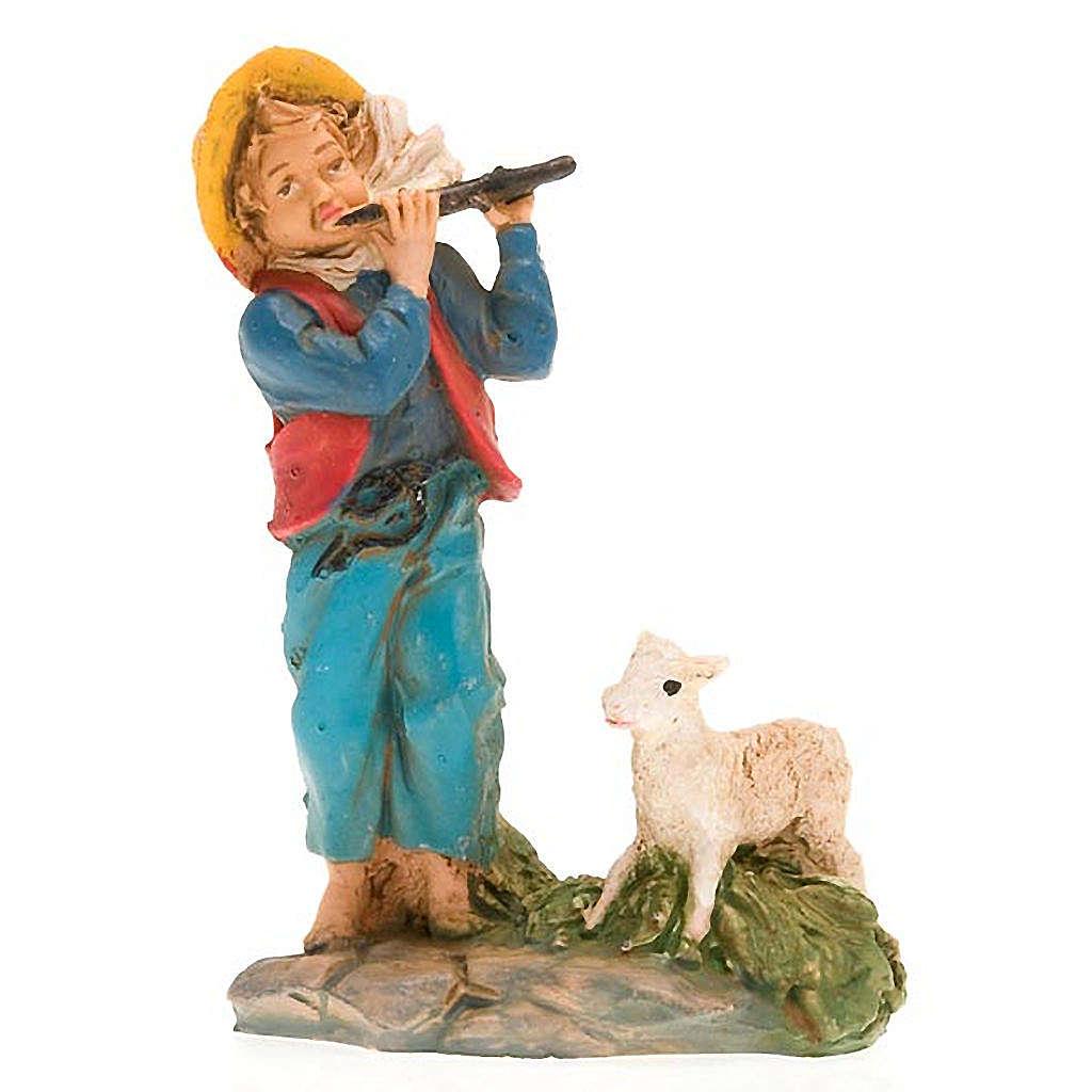 Pastore con flauto e capra 10 cm 3