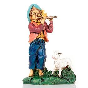 Pastore con flauto e capra 10 cm s1