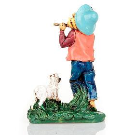 Pastore con flauto e capra 10 cm s2