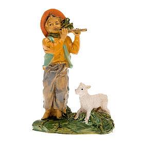 Pastore con flauto e capra 10 cm s4