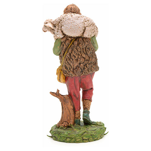 Nativity set accessory, Shepherd with sheep on his shoulder 2