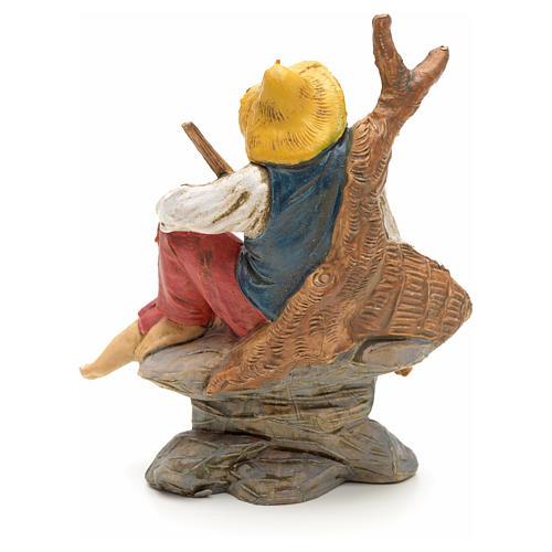 Nativity set accessory, Fisherman sitting figurine 2