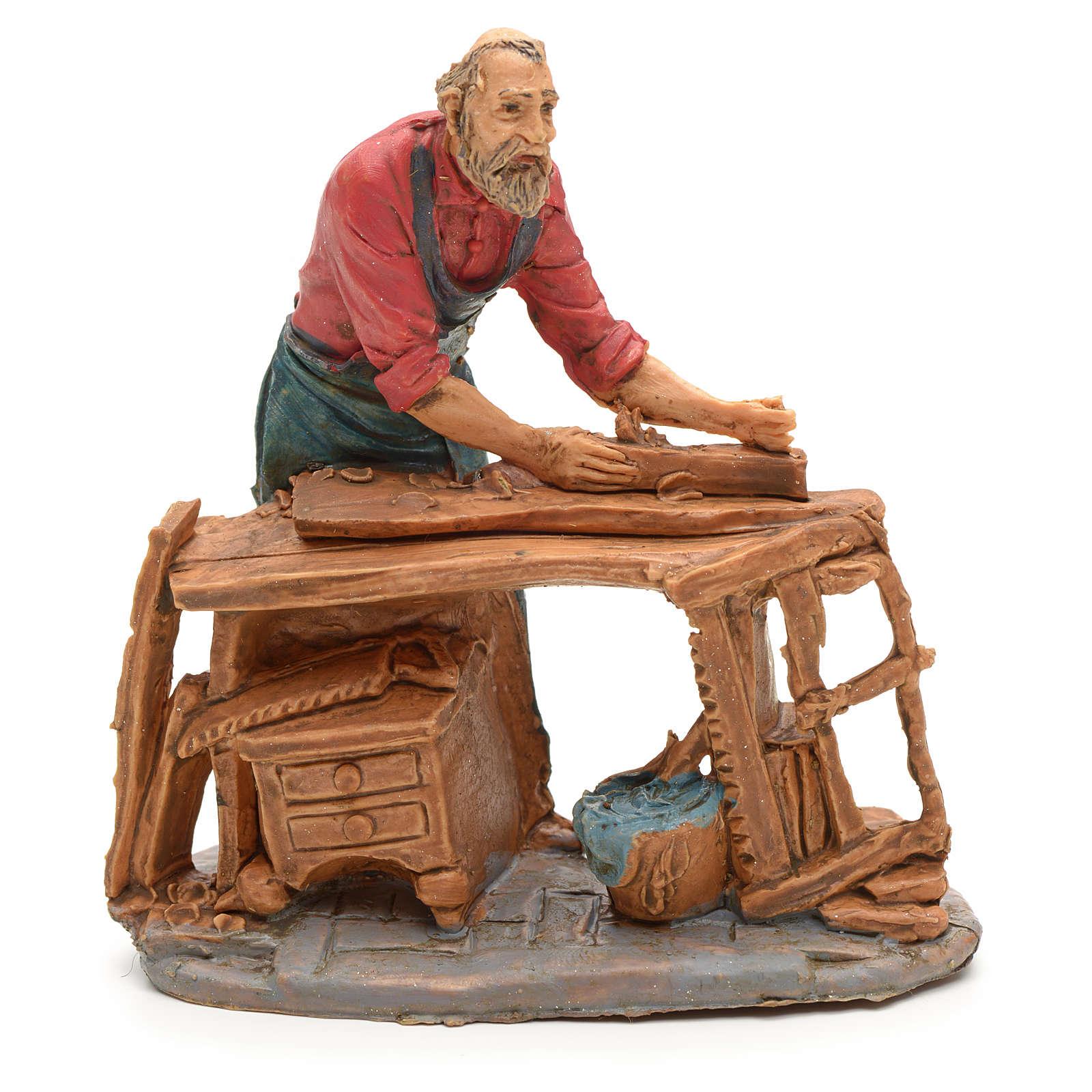 Nativity set accessory, Carpenter figurine 3