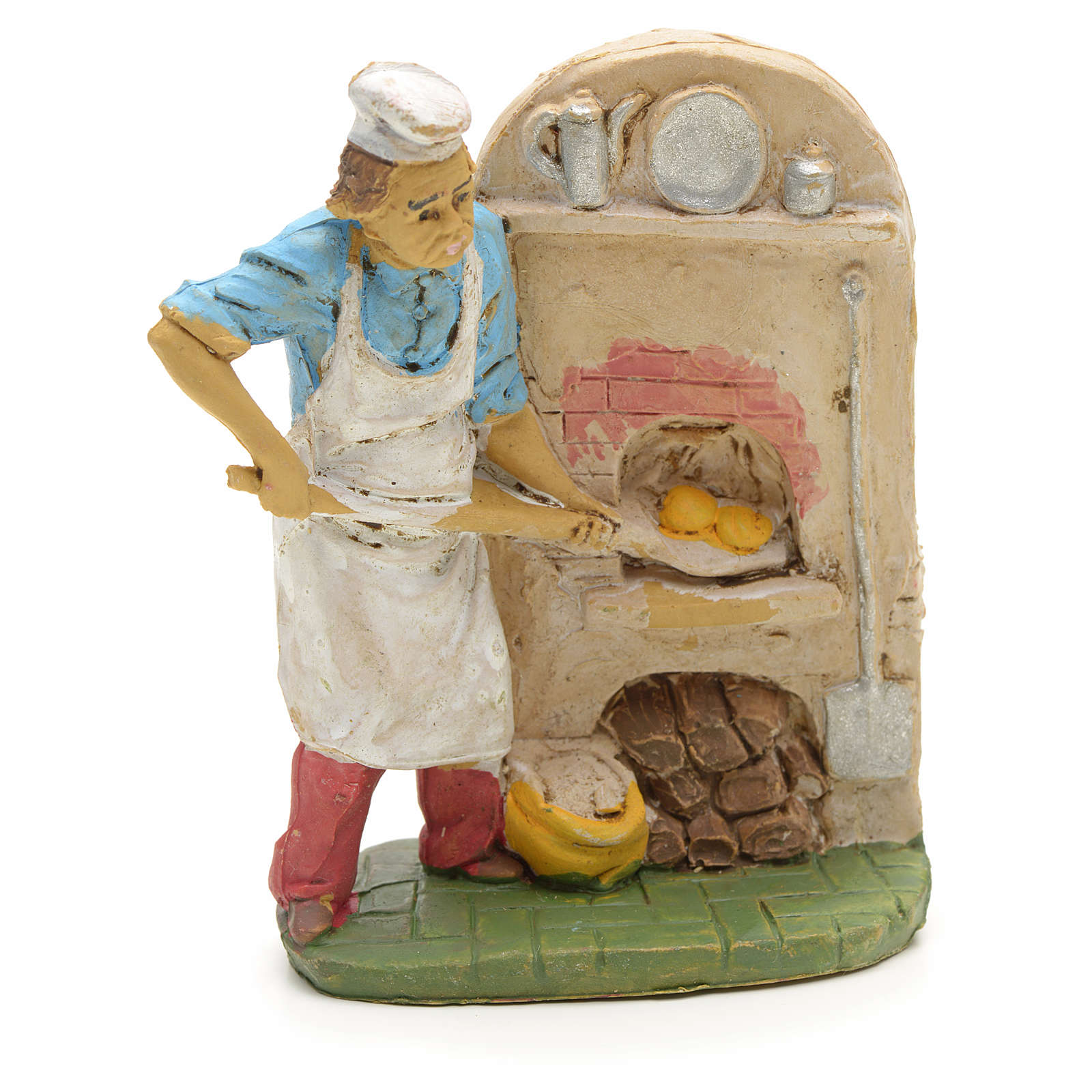 Nativity set accessory, Baker with oven figurine 3