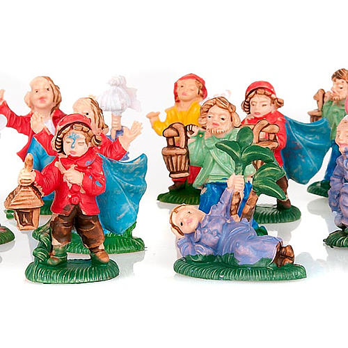 Pastori presepe vari personaggi colorati 12 pz. 3 cm 2