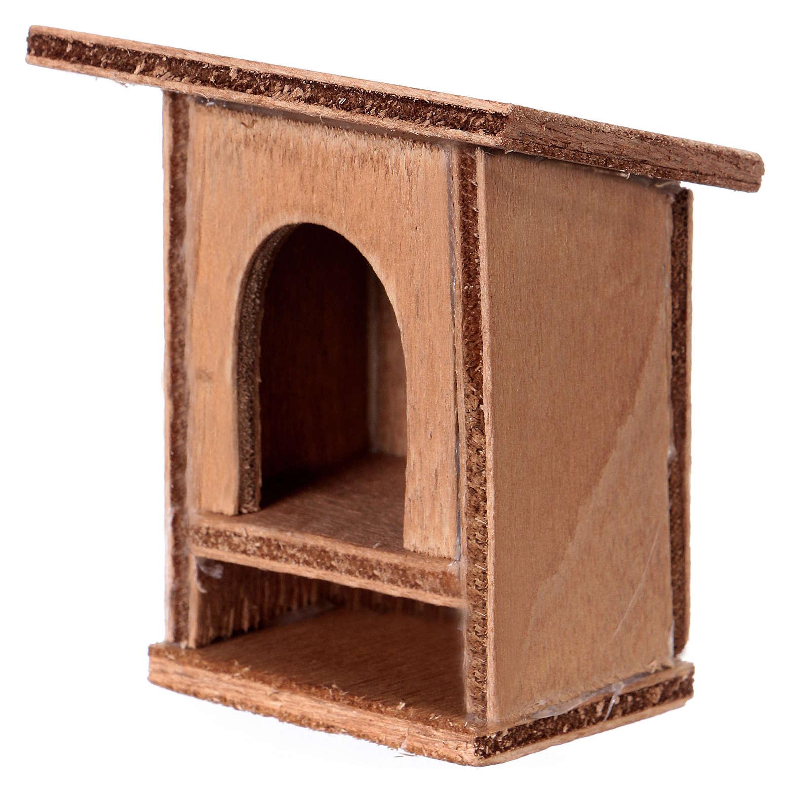 Nativity Scene accessory, wooden rabbit hutch 8 - 10cm 3