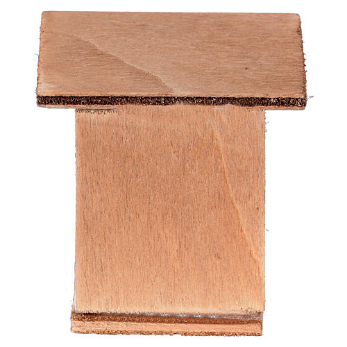 Lapinière pour crèche noël en bois 3